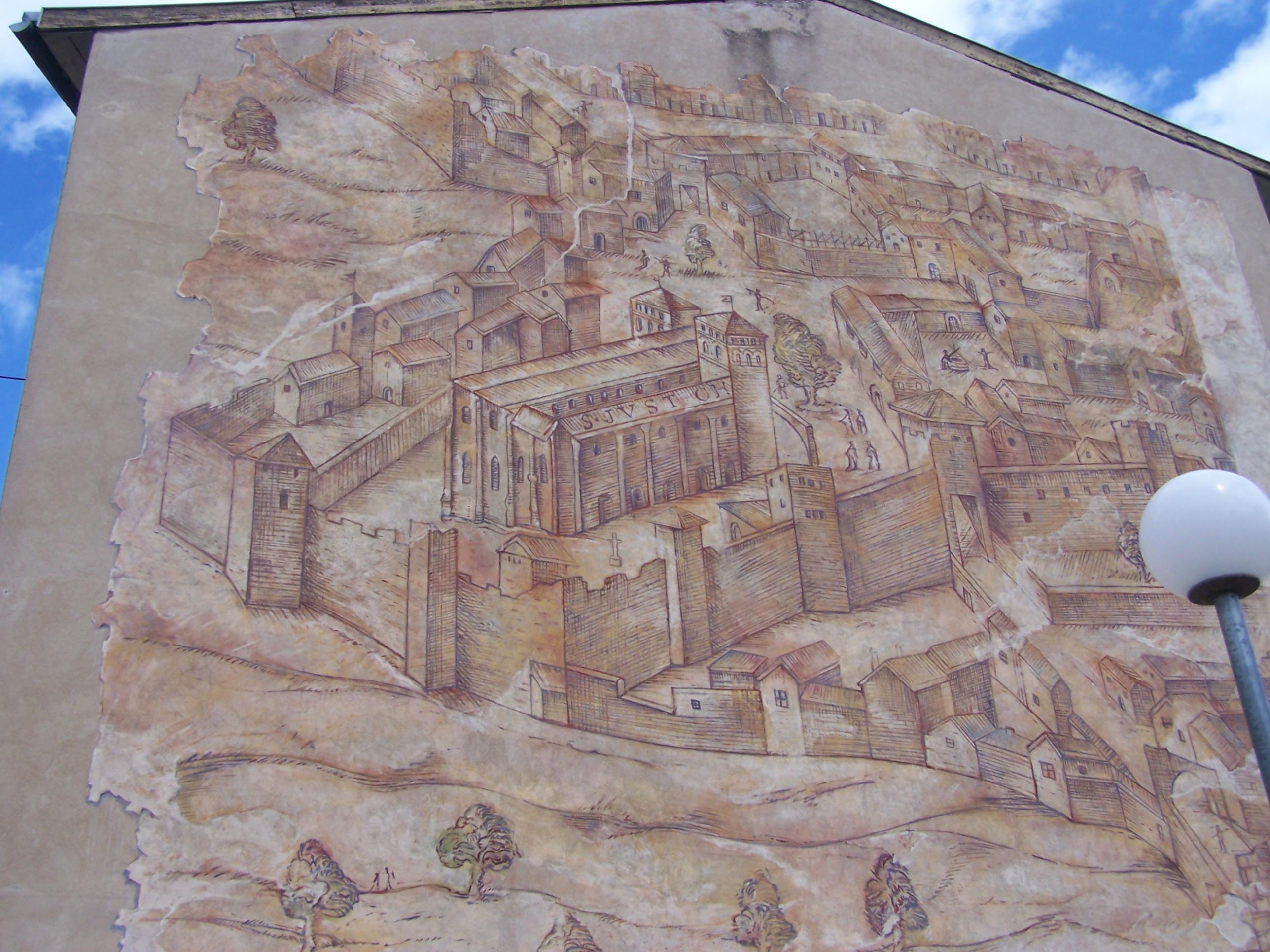 mur peint dans le quartier Saint-Just