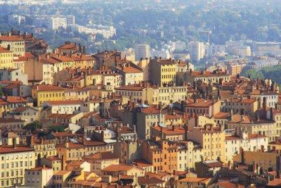 vue de la colline de la Croix-Rousse à Lyon